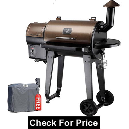 Z GRILLS ZPG-450A 2020 Upgrade Wood Pellet Grill, 6 in 1 BBQ Grill Auto Temperature Control, 450 Sq in Bronze