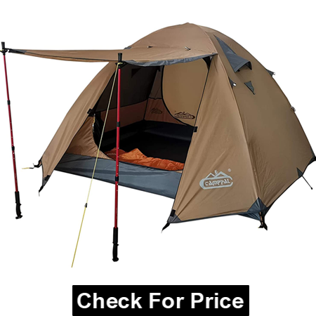 CAMPPAL Professional 3-4 Person 4 Season Mountain Tent, Lightweight Backpacking Tent