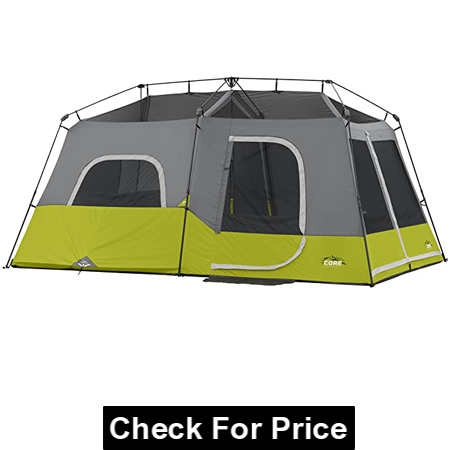 Core 9 Person Instant Cabin Tent, Material: Polyester