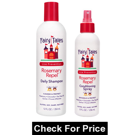Fairy Tales Rosemary Repel Daily Kids Shampoo for Lice, 12 Fl Oz, Conditioning Lice Spray