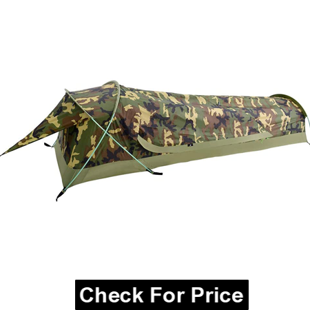 GEERTOP Ultralight Single Person Bivy Tent for Camp, 1 Man Tent for Camping Hiking Backpacking