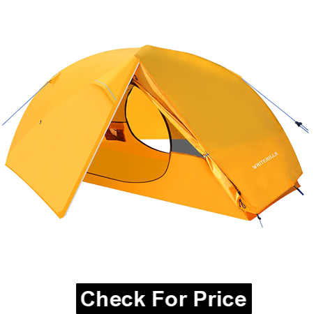 WhiteHills One Man Tent Lightweight 1 Person Backpacking Tent, Camping Tent with Removable Flysheet