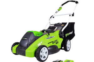 Lawn Mower with Swivel Front Wheels